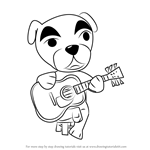 How to Draw Totakeke K.K. Slider from Animal Crossing