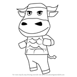 How to Draw Vic from Animal Crossing