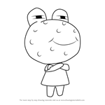How to Draw Wart Jr. from Animal Crossing