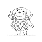 How to Draw Wendy from Animal Crossing
