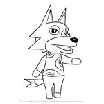 How to Draw Wolfgang from Animal Crossing