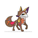 How to Draw Autumn Coyote from Animal Jam