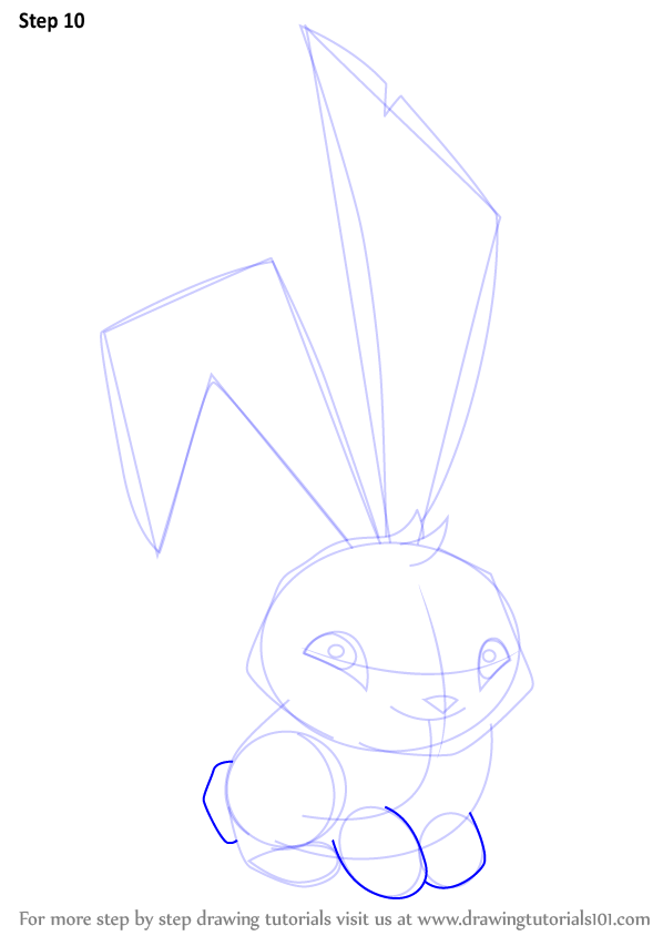 Step by step how to draw bunny from animal jam step by step how to draw bunny from animal jam drawingtutorials101 ccuart Choice Image
