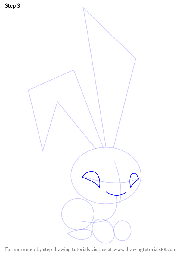 Learn How To Draw Bunny From Animal Jam Animal Jam Step By Step