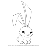 How to Draw Bunny from Animal Jam