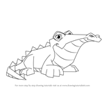 How to Draw Crocodile from Animal Jam
