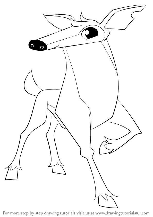 how to draw deer from animal jam