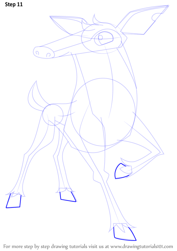 Image of: Ajpw Make Feet Drawingtutorials101com Learn How To Draw Deer From Animal Jam animal Jam Step By Step