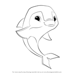 How to Draw Dolphin from Animal Jam