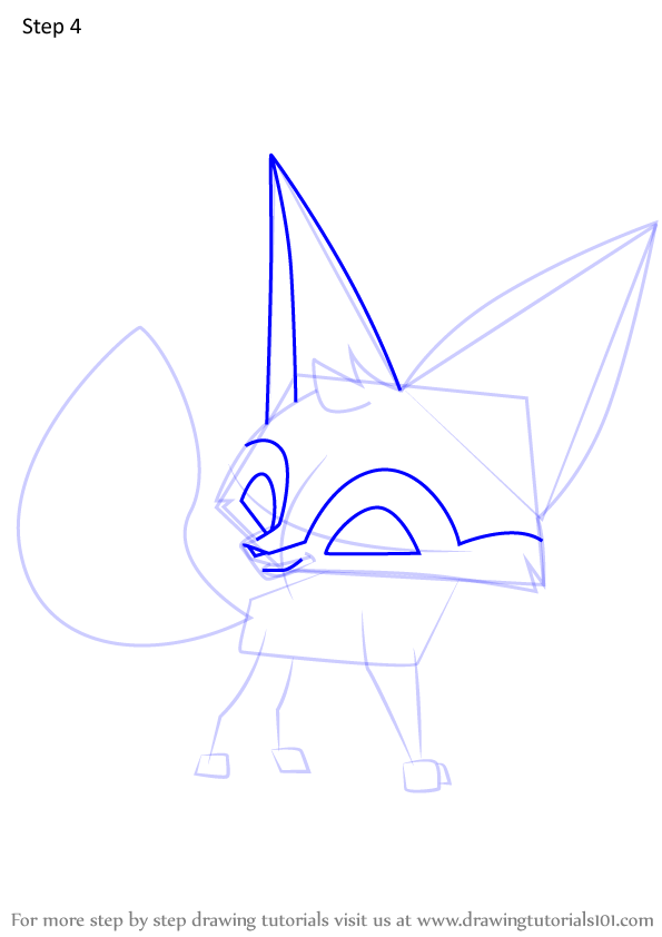 Learn How To Draw Fennec Fox From Animal Jam Animal Jam