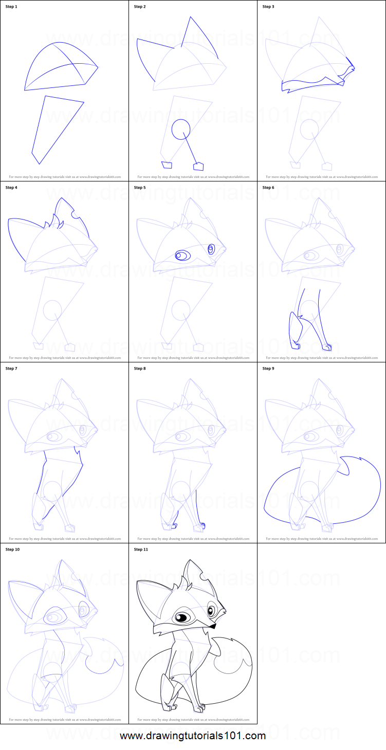 How To Draw Fox From Animal Jam