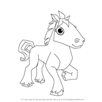 How to Draw Horse from Animal Jam