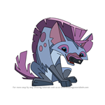 How to Draw Hyena from Animal Jam