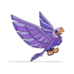 How to Draw Legendary Eagle from Animal Jam