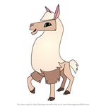 How to Draw Llama from Animal Jam