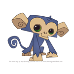 How to Draw Monkey from Animal Jam