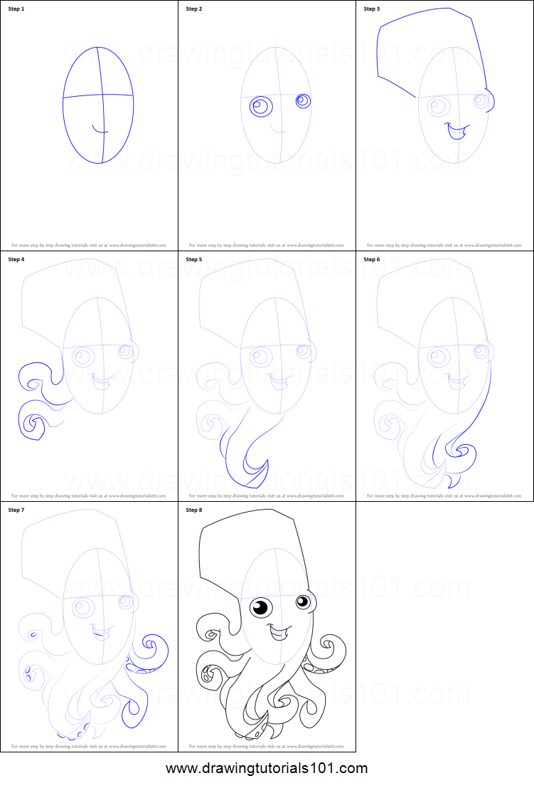 how to draw octopus from animal jam