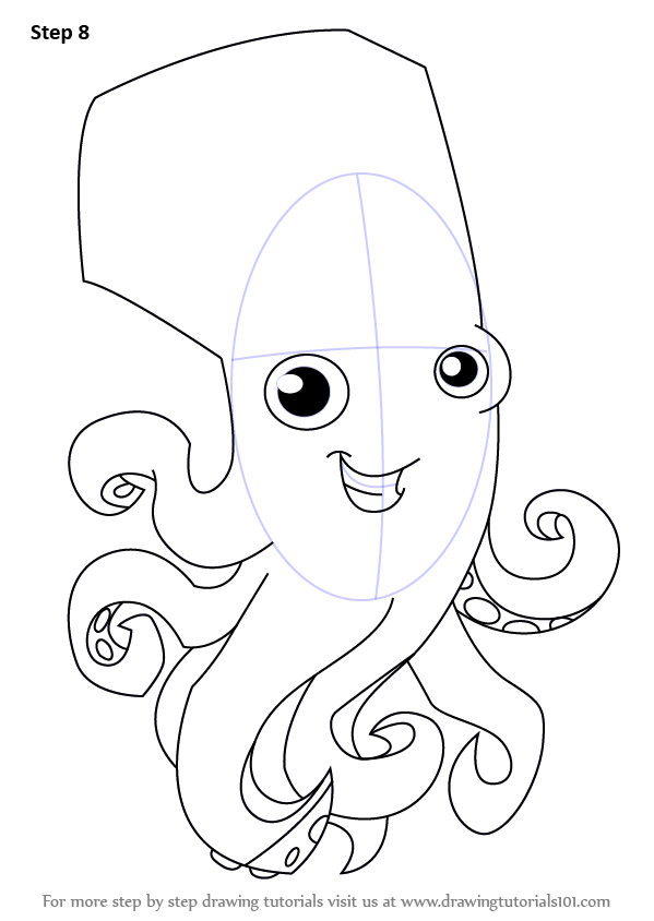Learn How To Draw Octopus From Animal Jam Animal Jam