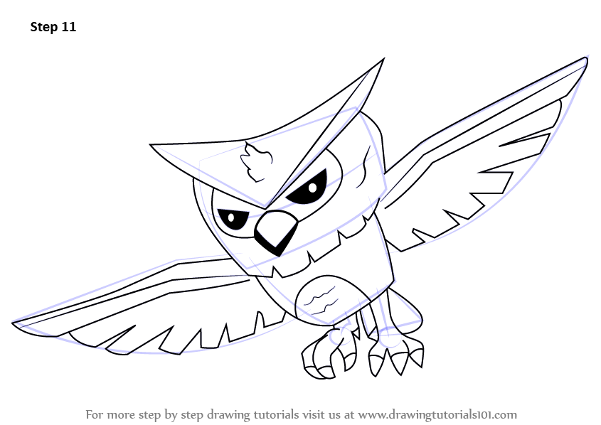 Learn how to draw owl from animal jam animal jam step by for Draw an owl in two steps