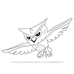 How to Draw Owl from Animal Jam