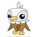 How to Draw Pet Eagle from Animal Jam