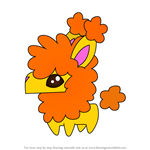 How to Draw Pet Llama from Animal Jam