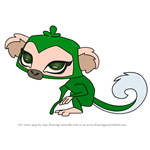 How to Draw Pet Monkey from Animal Jam