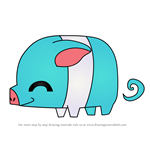 How to Draw Pet Piglet from Animal Jam