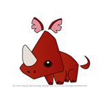 How to Draw Pet Rhino from Animal Jam