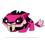 How to Draw Pet Sabertooth from Animal Jam