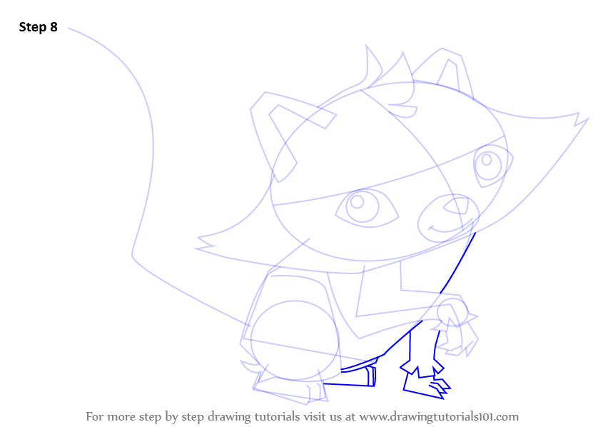 Line Drawing Step By Step : Step by how to draw raccoon from animal jam