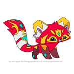 How to Draw Royal Red Panda from Animal Jam