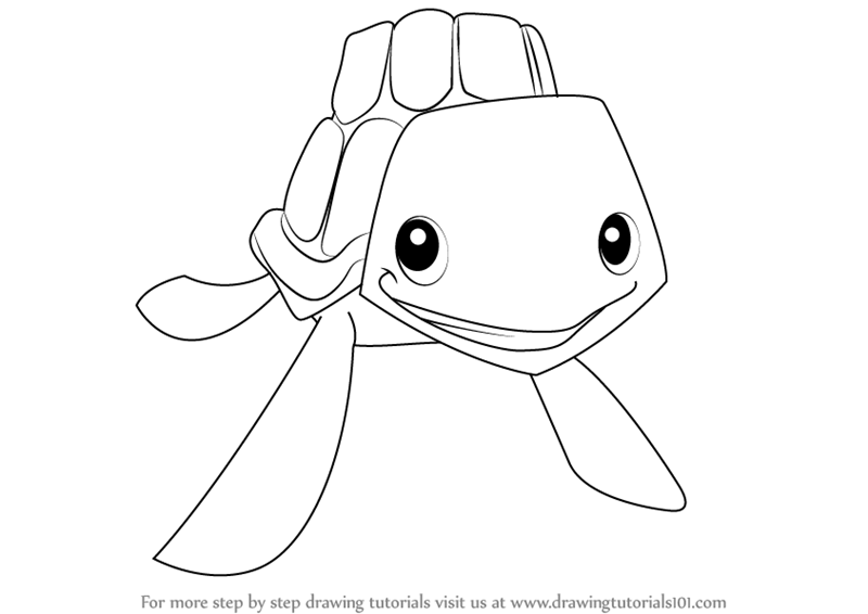 How to draw sea turtle from animal jam