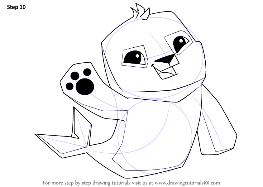 Learn How To Draw Seal From Animal Jam Animal Jam Step