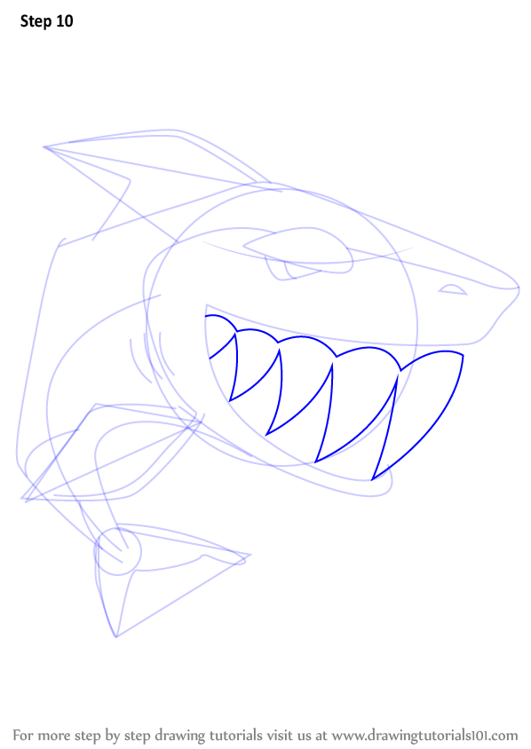 Step By Step How To Draw Shark From Animal Jam