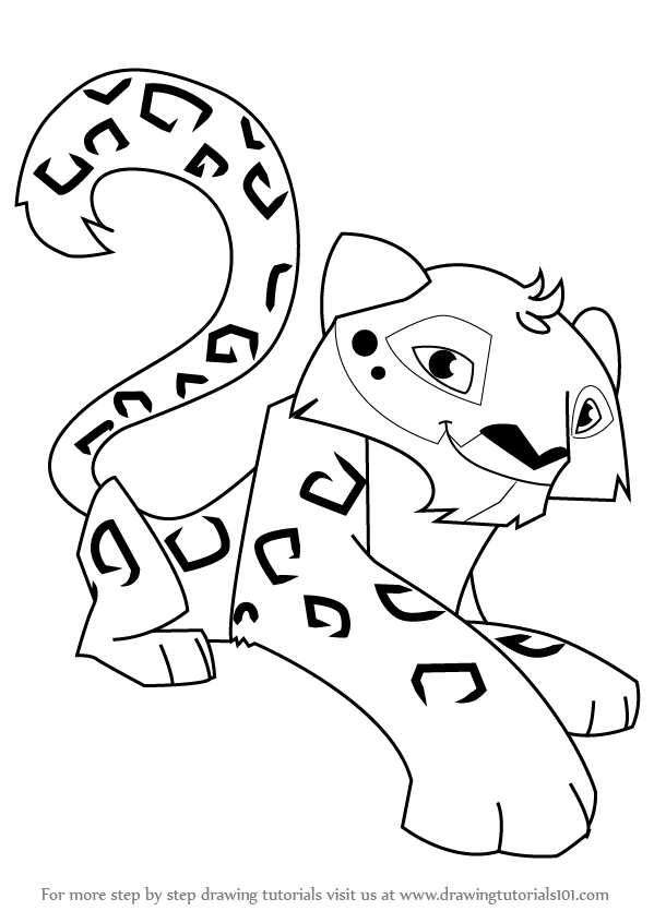 How To Draw Snow Leopard From Animal Jam on Cartoon Jam