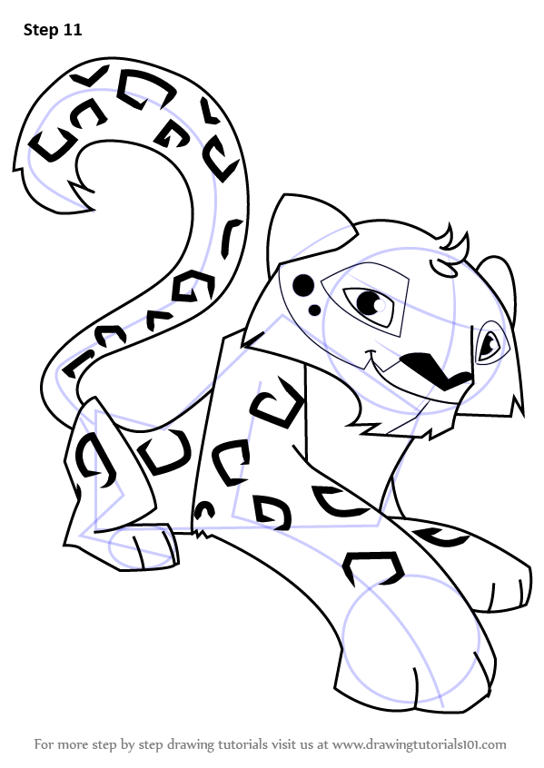 animal jam coloring pages printable - learn how to draw snow leopard from animal jam animal jam