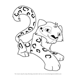 How to Draw Snow Leopard from Animal Jam