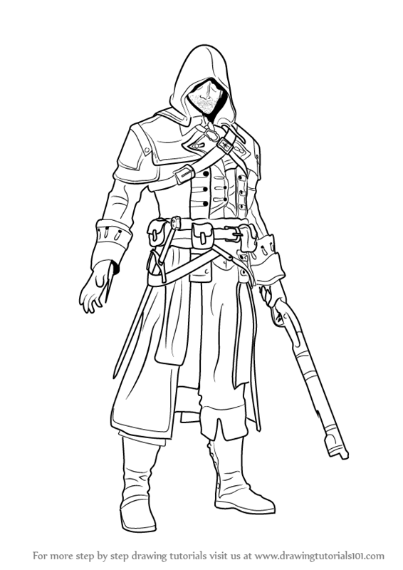 Learn How To Draw Shay Patrick Cormac From Assassin S Creed