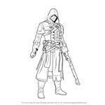 How to Draw Shay Patrick Cormac from Assassin's Creed