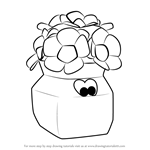 How to Draw Flower Urns from Banjo-Kazooie