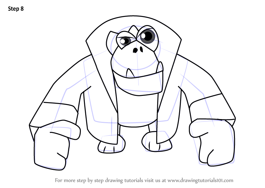 Learn How To Draw Klungo From Banjo Kazooie Banjo Kazooie