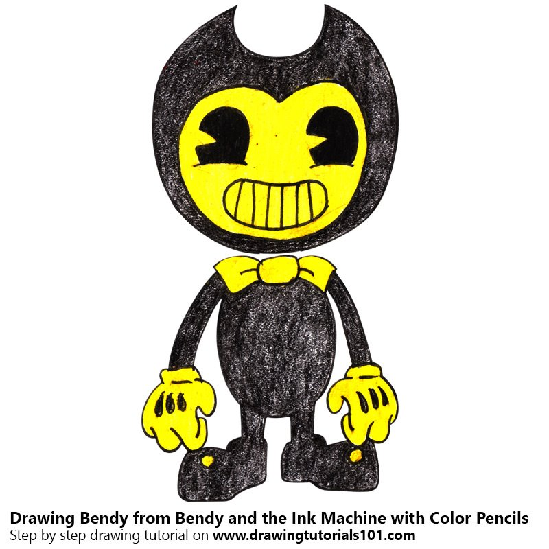 Bendy from Bendy and the Ink Machine Color Pencil Drawing