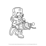 How to Draw Cryoneer from Boom Beach