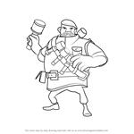 How to Draw Grenadier from Boom Beach