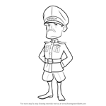 How to Draw Lt. Hammerman from Boom Beach