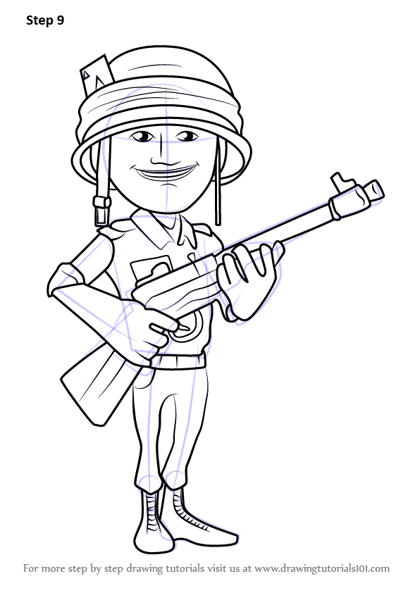 Learn How to Draw Rifleman from Boom Beach Boom Beach Step by