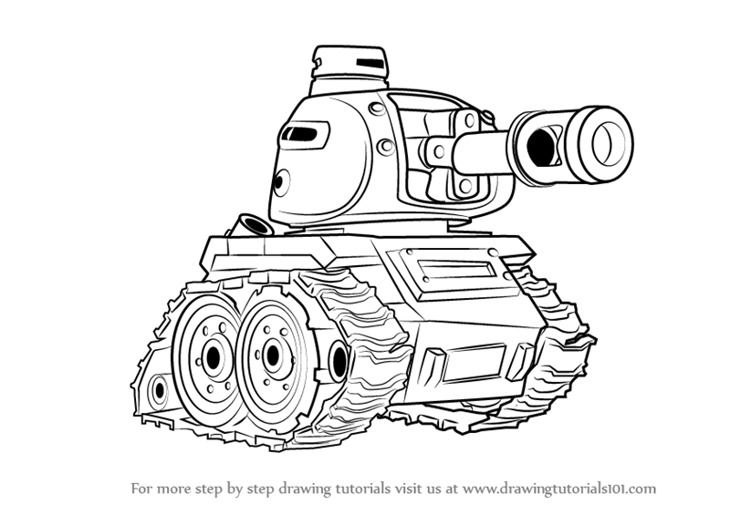 learn how to draw tank from boom beach boom beach step by step