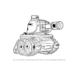 How to Draw Tank from Boom Beach