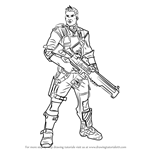 How to Draw Axton from Borderlands
